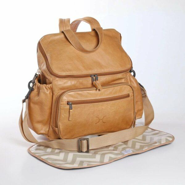Thandana - Nappy Backpack Leather Hazelnut