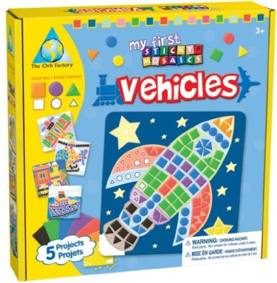 My First Sticky Mosaics - Vehicles