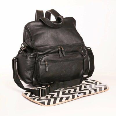 Thandana - Nappy Backpack Leather Black