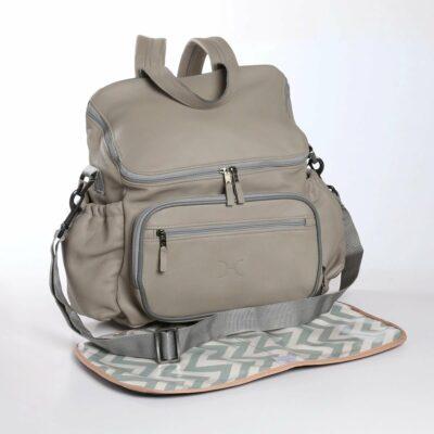 Thandana - Nappy Backpack Leather Grey
