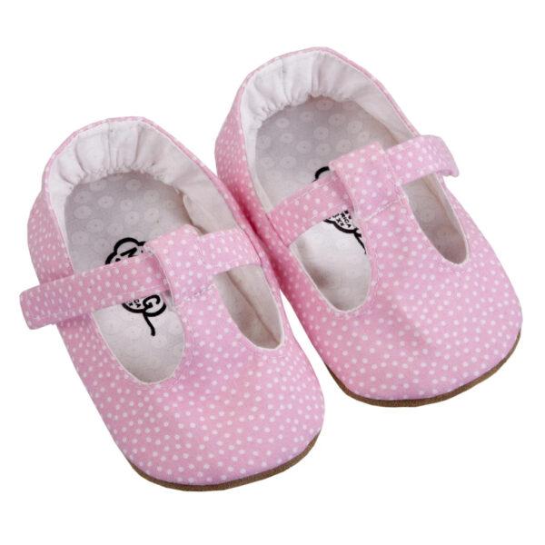 Myang - Shoes - T-Bar - Pink Pindot 1
