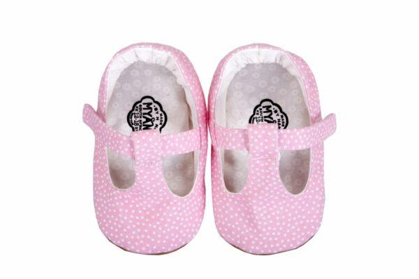 Myang - Shoes - T-Bar - Pink Pindot 2