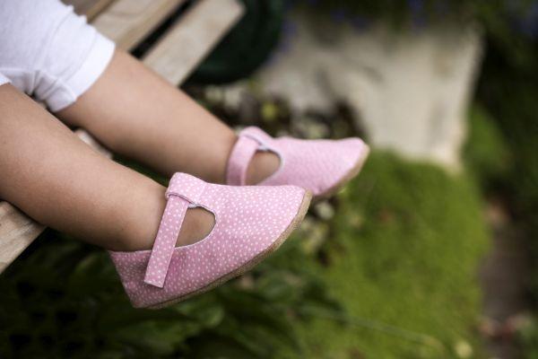 Myang - Shoes - T-Bar - Pink Pindot 4