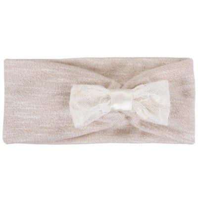 Myang - Headband (Girls) - Cream with Lace Bow 1 - M0065