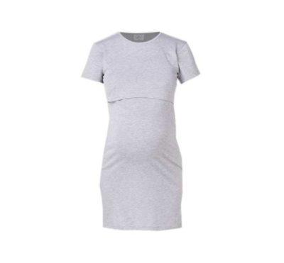 Hannah Grace - Breastfeeding Hospital Nightie Short Sleeve - Grey 1