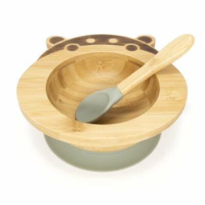Hippo Shape Organic Bamboo Bowl - Sage 1