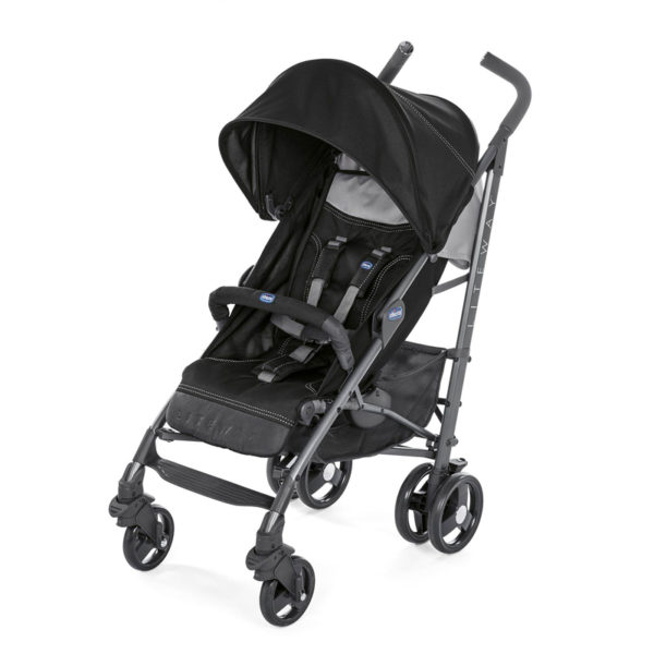 Chicco - Lite Way 3 Basic Stroller with Bumper Bar – Black BABYCH00114-1