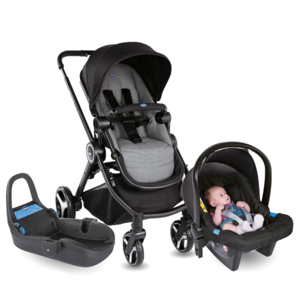 Chicco - Best Friend - Stone Travel System - Car Seat - Base BABYCH00148