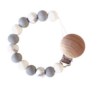 StorkBrands - Ruby Melon Toy Dummy Clip Marble Grey 1StorkBrands - Ruby Melon Toy Dummy Clip Marble Grey 1