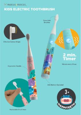 Kids Sonic Electric Toothbrush 2Kids Sonic Electric Toothbrush 1Marcus & Marcus - Kids Sonic Electric Toothbrush 2