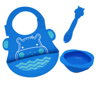 Marcus & Marcus - Silicone Baby & Toddler Feeding Sets Lucas 1
