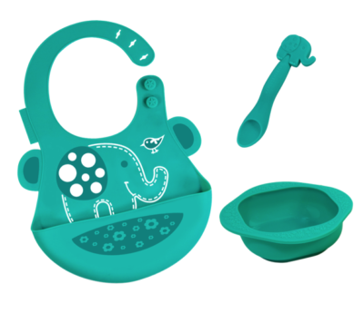 Marcus & Marcus - Silicone Baby & Toddler Feeding Sets Ollie 1
