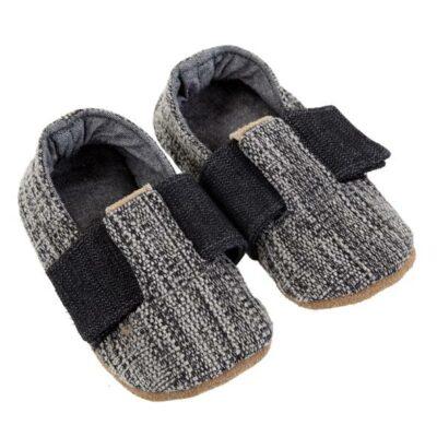 Myang - Shoes - T-Bar (Boys) - Charcoal Tweed 1