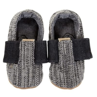 Myang - Shoes - T-Bar (Boys) - Charcoal Tweed 2