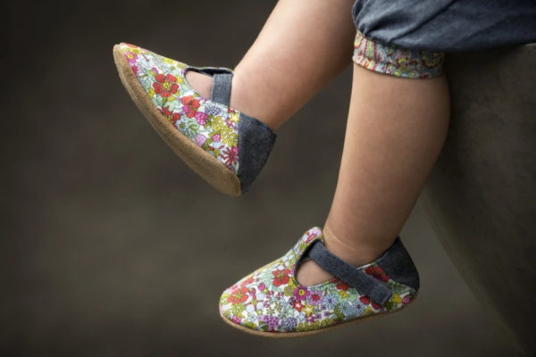 Myang - Shoes - T-Bar (Girl) - Bright Floral and Denim 4 - M0330
