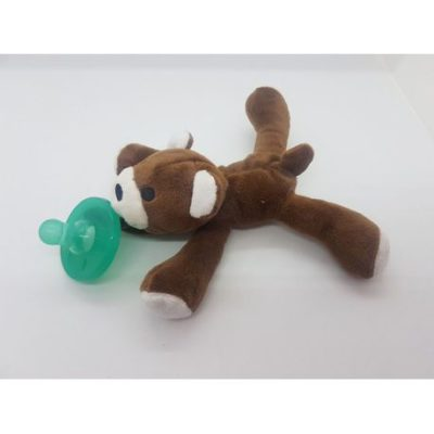 4aKid - Plush Pacifier Holder & Dummy - Teddy 2