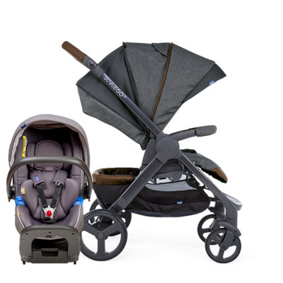 Chicco - Stylego Up Crossover & Oasys i-size Bebecare Travel System – Grey BABYCH00102