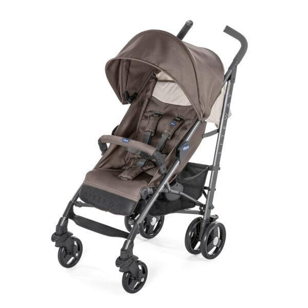 Chicco - Lite Way 3 Basic Stroller with Bumper Bar – Dark Beige BABYCH00115-1