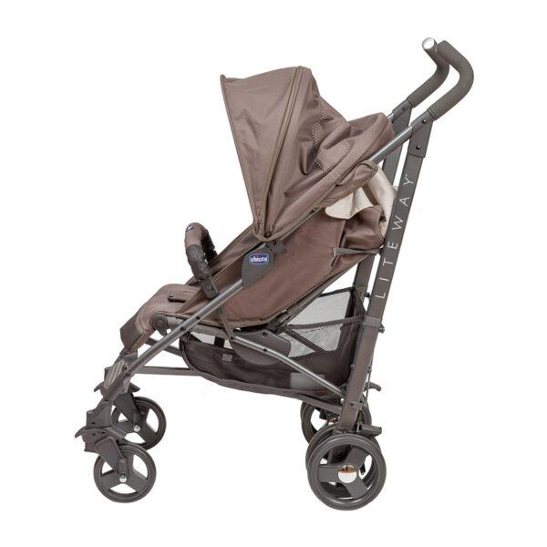 Chicco - Lite Way 3 Basic Stroller with Bumper Bar – Dark Beige BABYCH00115-2