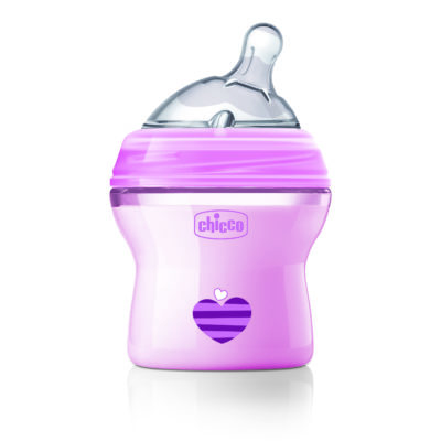 Chicco - Natural Feeling Colour Bottles – Pink 150ml BABYCH02015