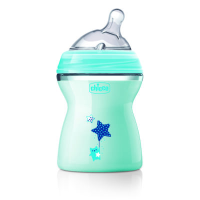 Chicco - Natural Feeling Colour Bottles – Blue 250ml BABYCH02018
