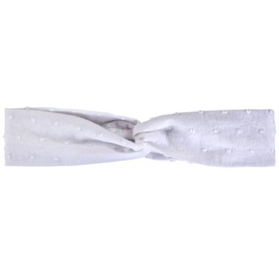 Myang - Twist Headband (Girls) - White Dot - M0212