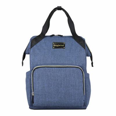 Snuggletime Nappy Bag - Blue Oxford Backpack 2