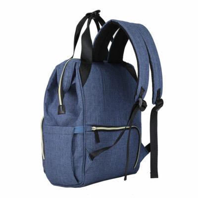 Snuggletime Nappy Bag - Blue Oxford Backpack 3
