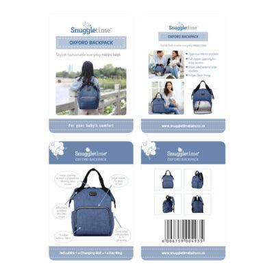 Snuggletime Nappy Bag - Blue Oxford Backpack 4