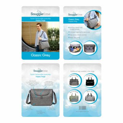 Snuggletime Nappy Bag - Classic Grey 4