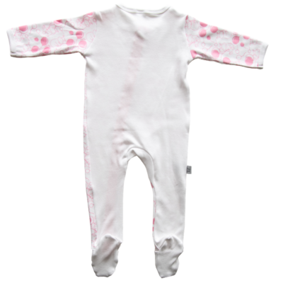 Babygrow Romper Pink Hippo 2