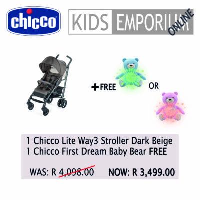 Chicco - Lite Way3 Stroller - Dark Beige Promo