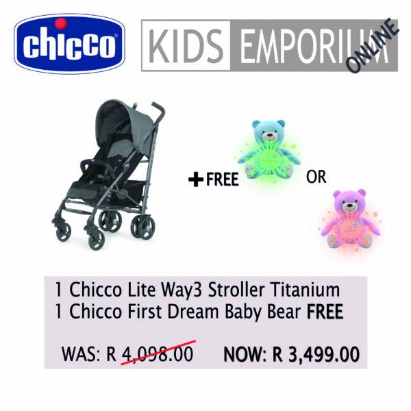 Chicco - Lite Way3 Stroller - Titanium Promo