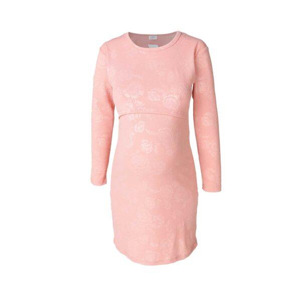 Hannah Grace - Pink Rose Embossed Nightie 1
