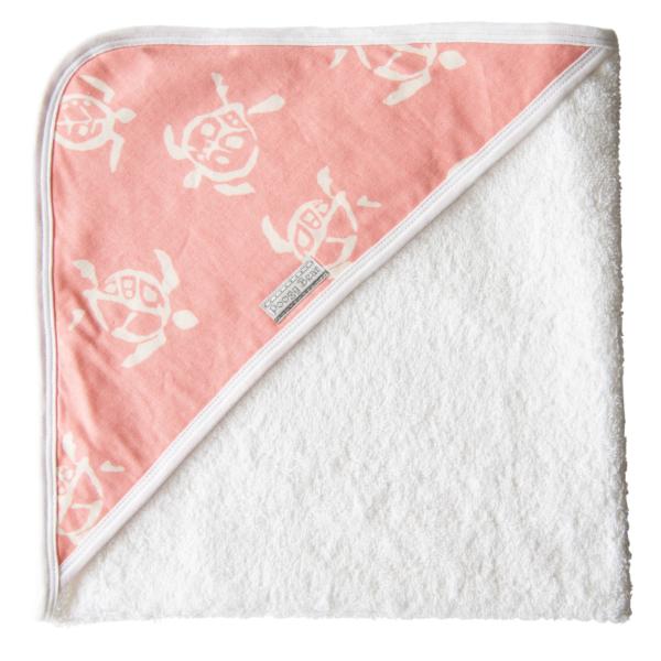 Super Soft Coral Turtles Hooded Towel 1
