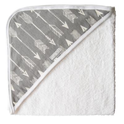 Super Soft Grey Arrow Hooded Towel 1