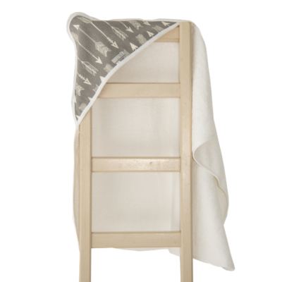 Super Soft Grey Arrow Hooded Towel 2