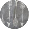 Super Soft Grey Arrow Hooded Towel 3