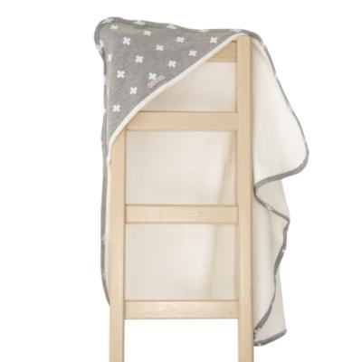 Super Soft Grey Crosses Hooded Towel 2