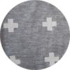 Super Soft Grey Crosses Hooded Towel 3