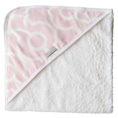 Super Soft Pink Bella Hooded Towel 1