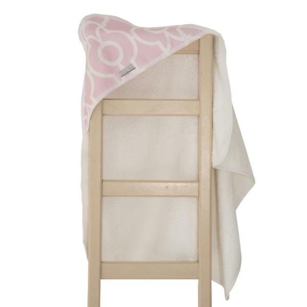 Super Soft Pink Bella Hooded Towel 2