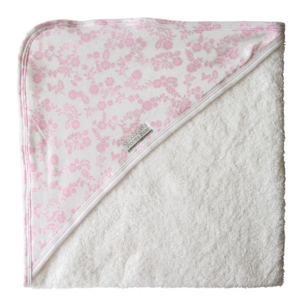 Super Soft Pink Floral Hooded Towel 1