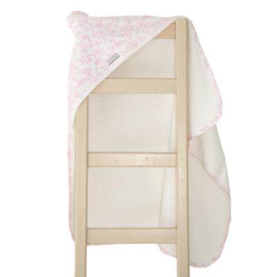Super Soft Pink Floral Hooded Towel 2