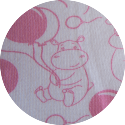 Super Soft Pink Hippo Hooded Towel 3
