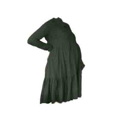 Hannah Grace Tiered Winter Dress - Green 1