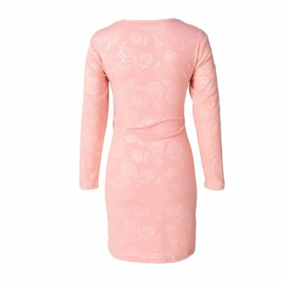 Hannah Grace - Pink Rose Embossed Nightie 2