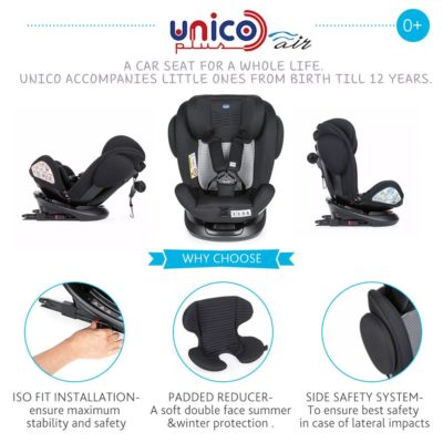 Chicco - Unico Plus Air Car Seat (Gr 0/1/2/3) Indian Ink BABYCH00339-4