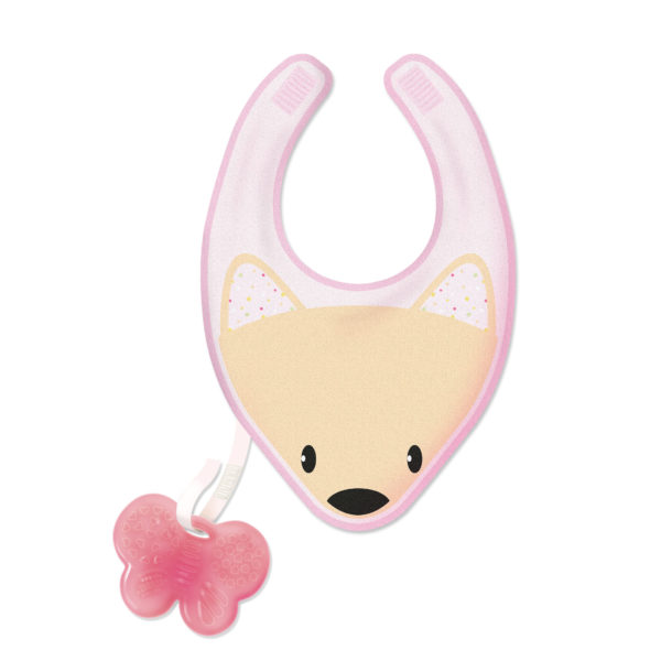 Chicco - Fresh Bib Teether – Pink BABYCH02058