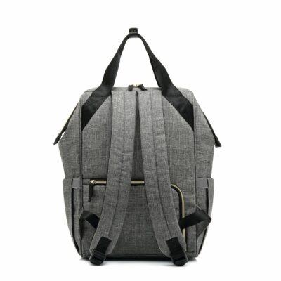 Snuggletime Nappy Bag - Grey Oxford Backpack 5